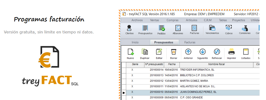 Opiniones treyFACTSQL: Herramienta de facturación completa e intuitiva - Appvizer