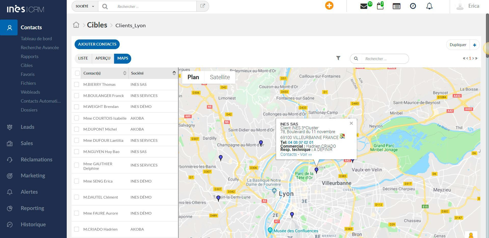 Geolocalización de clientes y competencia