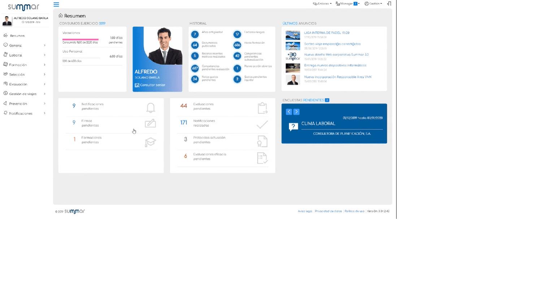 Con un portal del empleado, Mentor proporciona información de forma bidireccional a empleados, managers y departamento de RRHH.