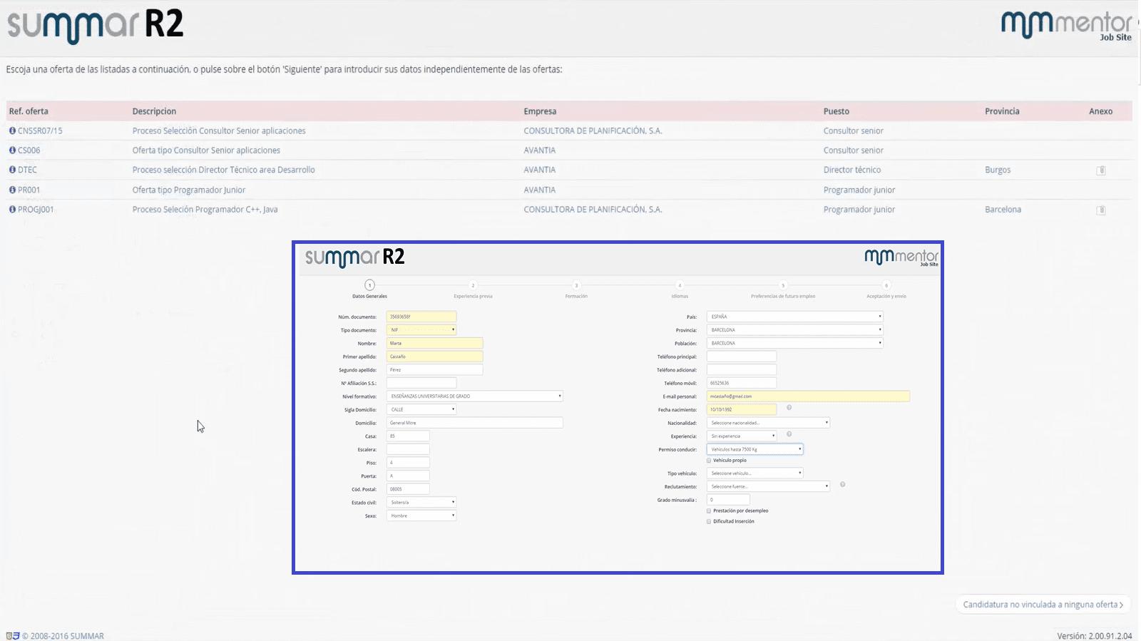 Puedes gestionar toda la documentación de los procesos de selección de tu empresa.