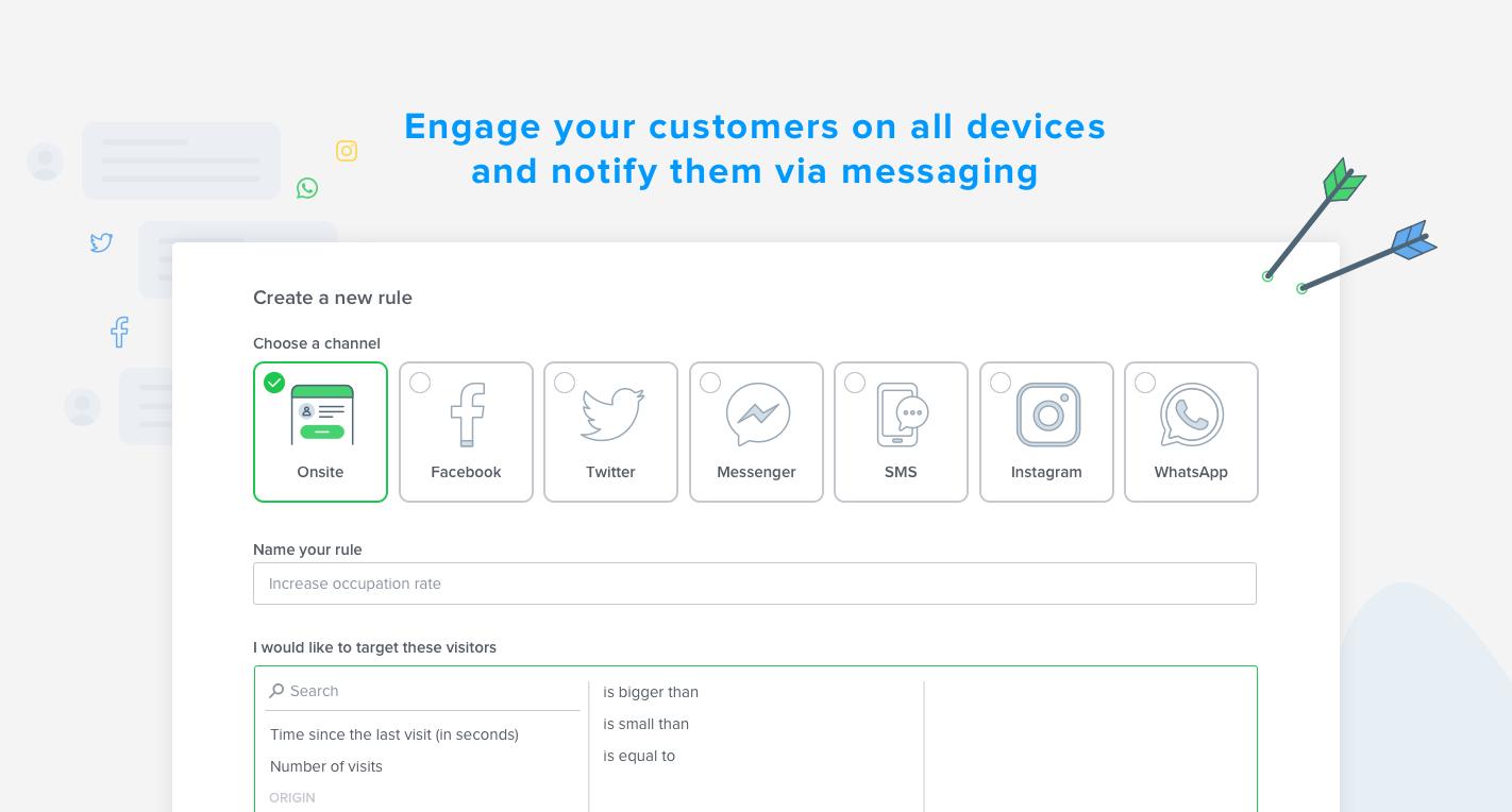 Elegir el mejor canal de contacto en función de su objetivo y luego instando a la mensajería.