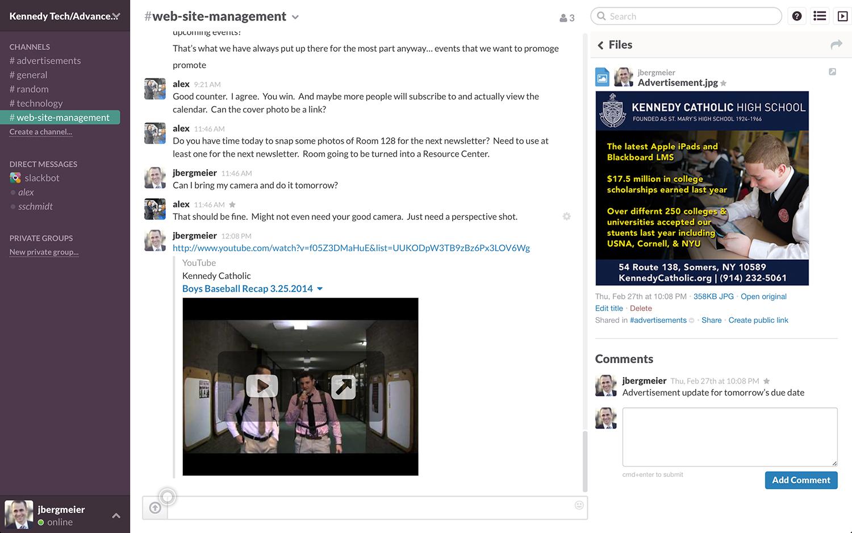Holgura: compartido contactos, notificaciones, integración con redes sociales