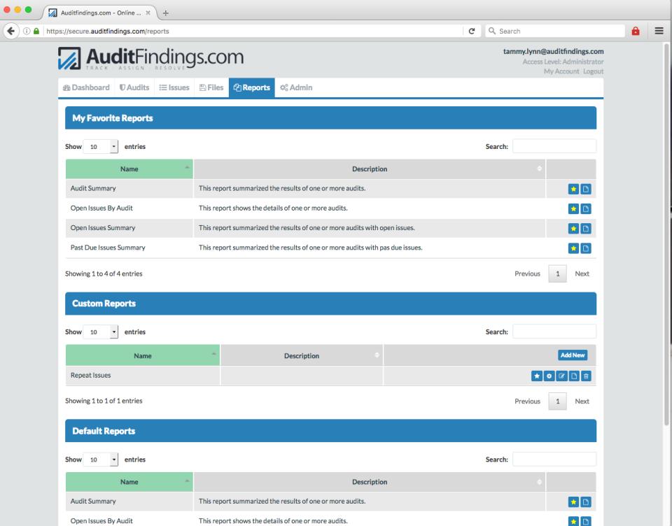 AuditFindings.com de pantalla-3