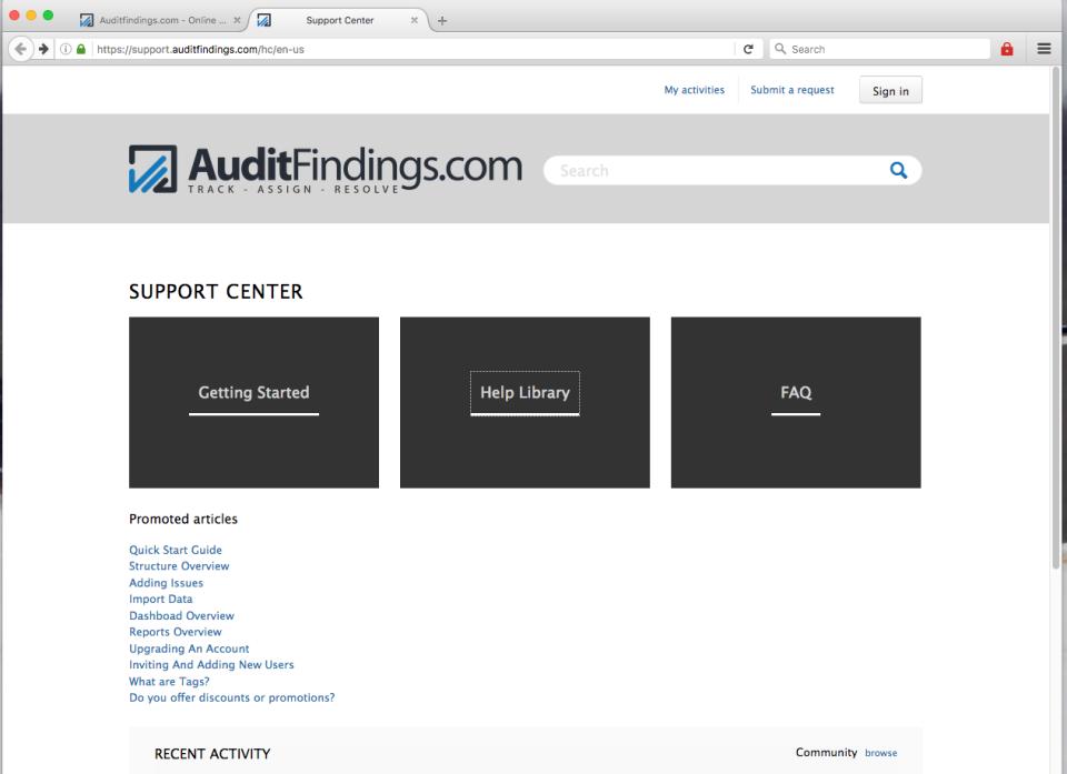 AuditFindings.com de pantalla-4
