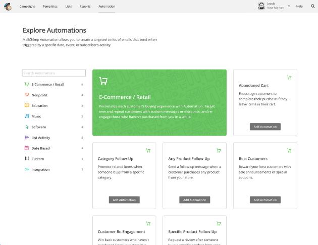 Automatizar e-mail con MailChimp