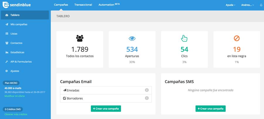 Opiniones Sendinblue: Plataforma marketing enfocada en la relación con el cliente - appvizer