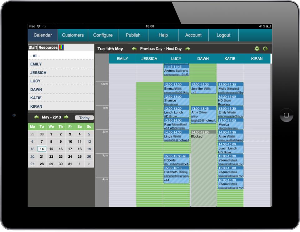 BookingBug de pantalla-2