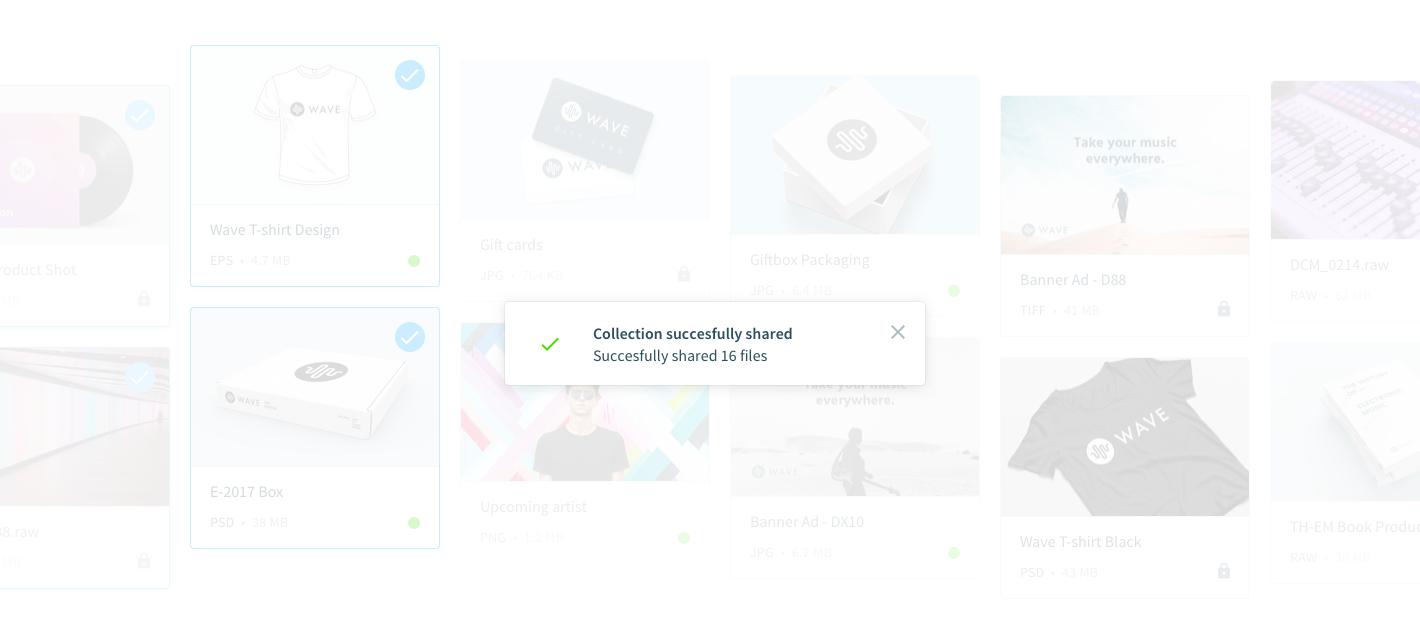 Compartir un conjunto de documentos en un click