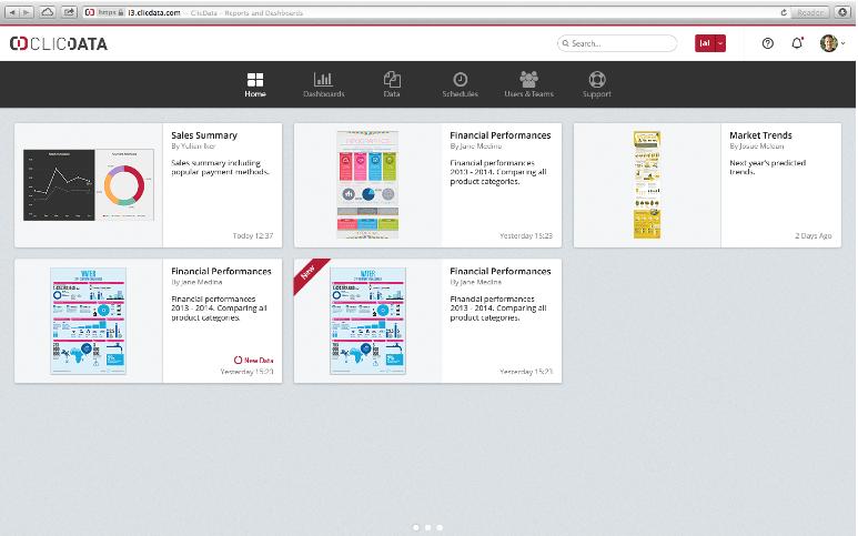 ClicData: La reversibilidad total de datos, filtros, página web (forma de plug-in)