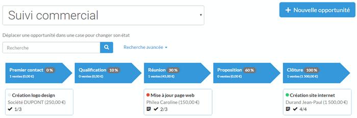 herramienta de facturación con el módulo CRM sola