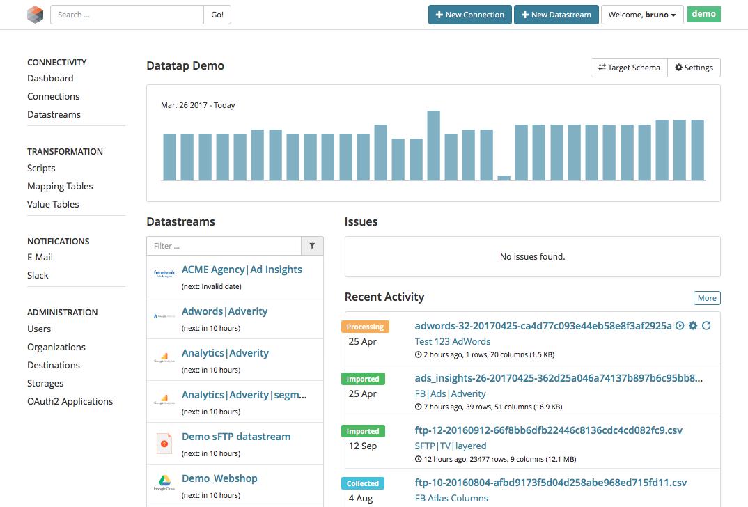 Opiniones Adverity Datatap: Software de Big Data - appvizer