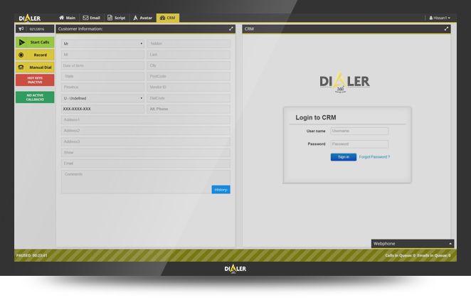 Dialer360 de pantalla-2
