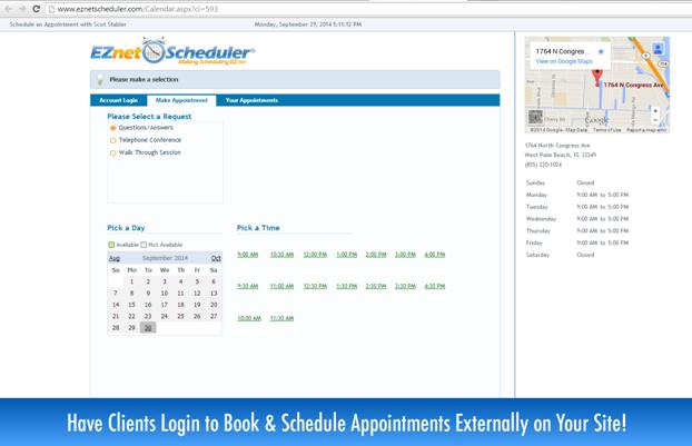 Scheduler EZNET de pantalla-1