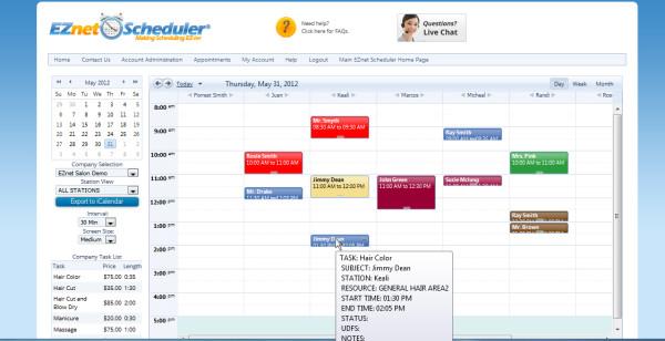 EZNET Scheduler de pantalla-2