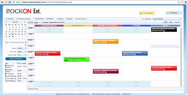 EZNET Scheduler de pantalla-4