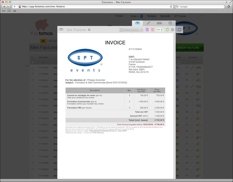 Factomos: Secure Sockets Layer (SSL) Gestión automática del IVA, la gestión de E / S